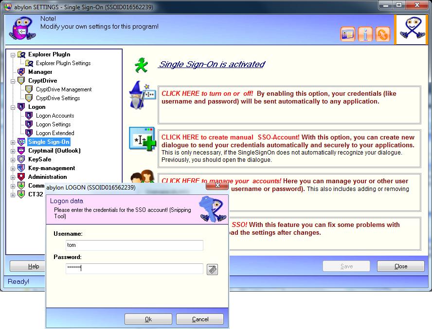 abylon ENTERPRISE, Security Software Screenshot