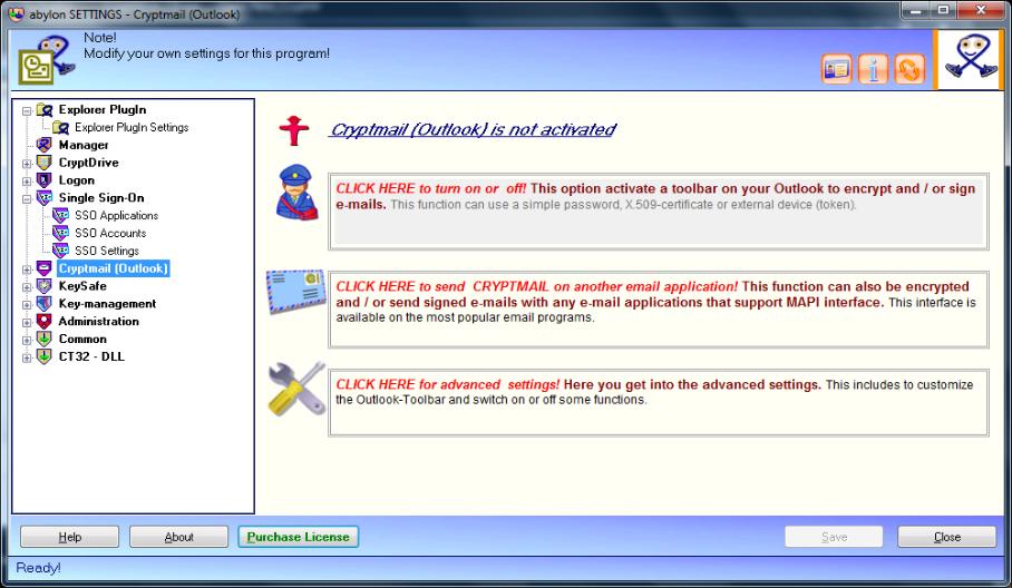 General Security Software, abylon ENTERPRISE Screenshot