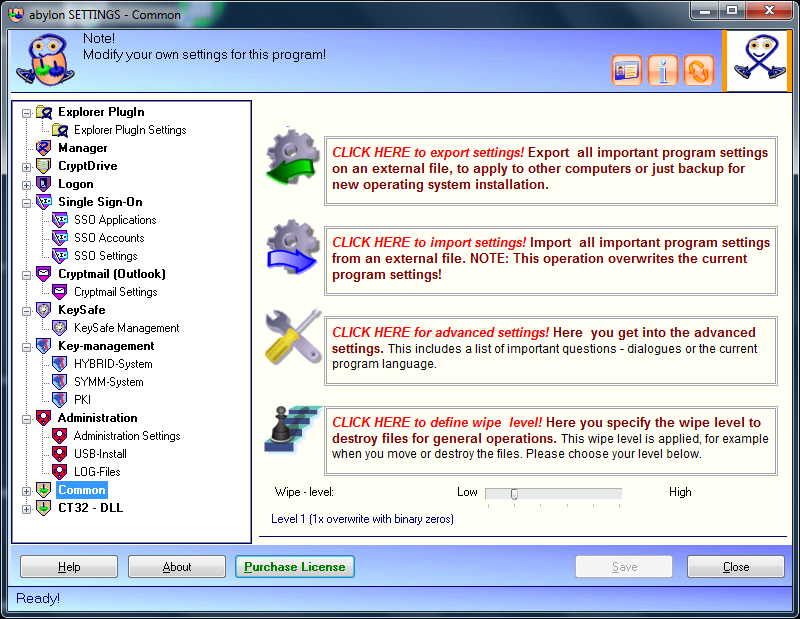 abylon ENTERPRISE, Security Software, General Security Software Screenshot