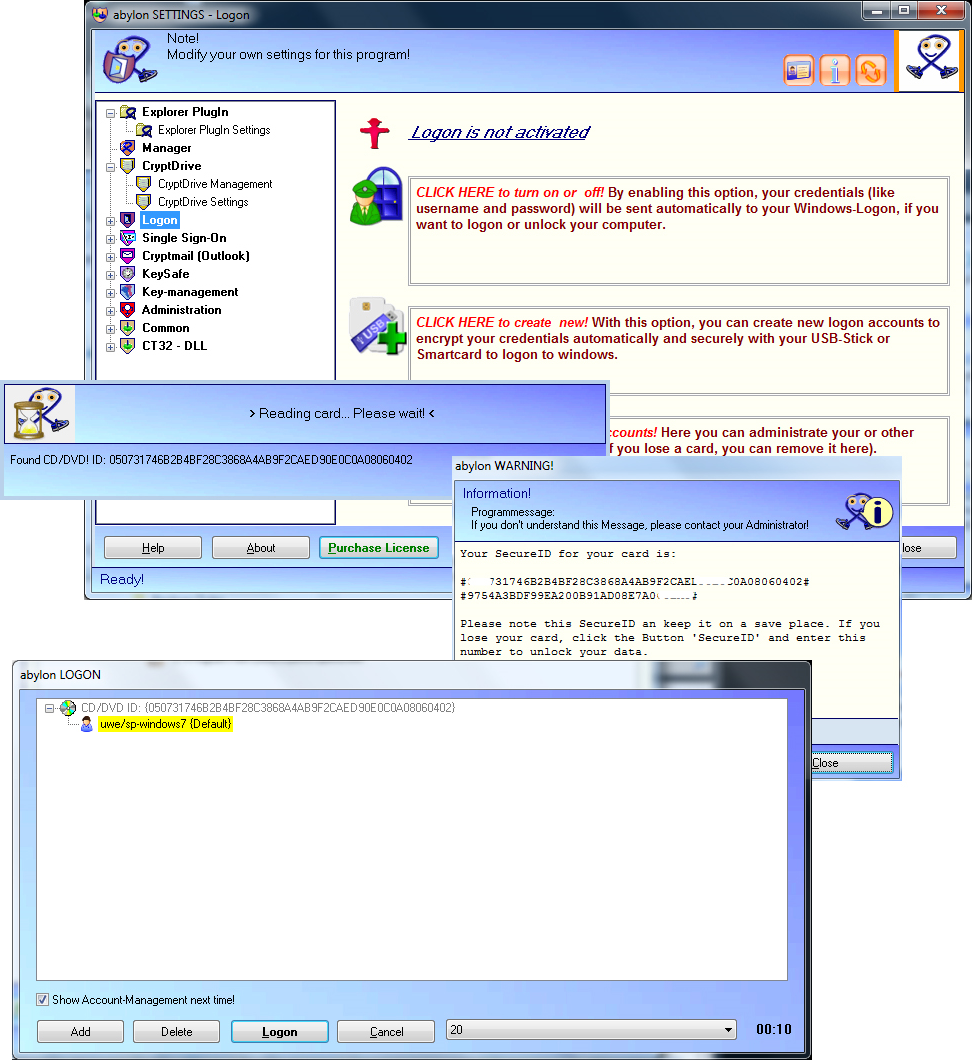 abylon ENTERPRISE, General Security Software Screenshot
