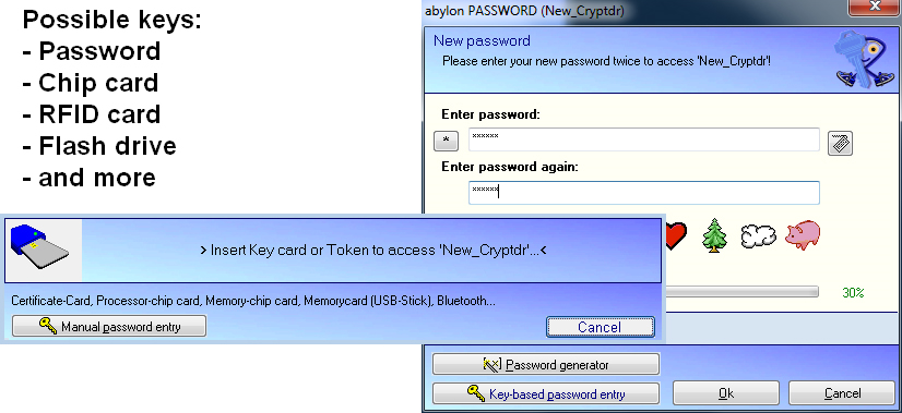 abylon KEYSAFE, Security Software Screenshot