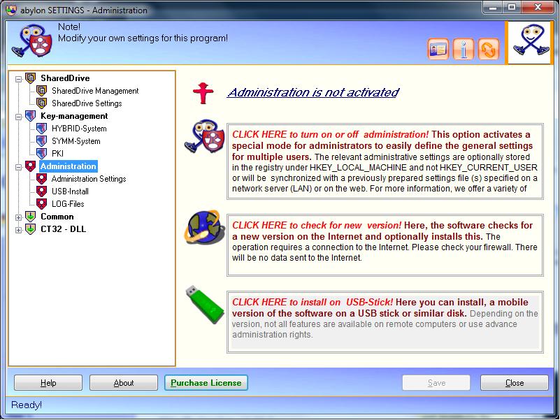 Security Software, abylon SHAREDDRIVE Screenshot