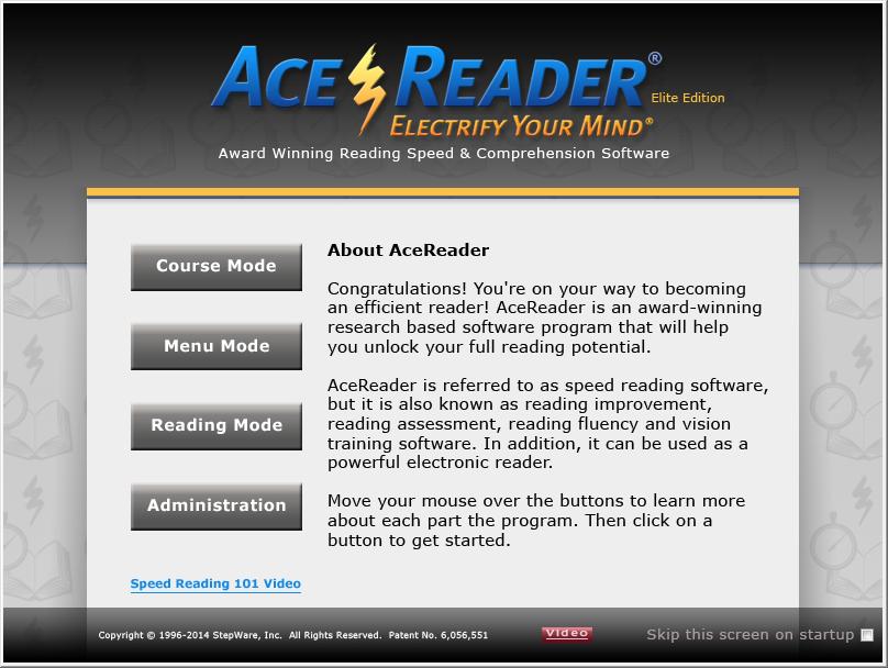 AceReader Elite Screenshot