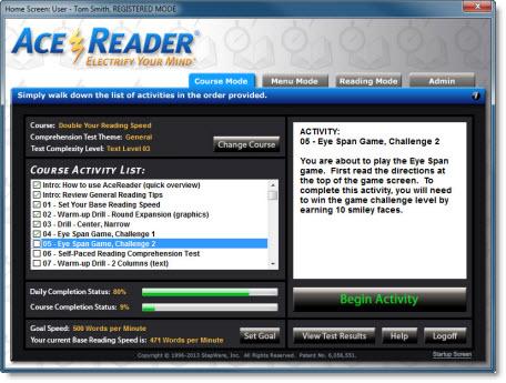 AceReader Elite, Hobby, Educational & Fun Software Screenshot