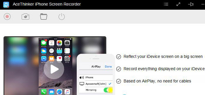 AceThinker iPhone Screen Recorder, Video Software, Video Capture Software Screenshot