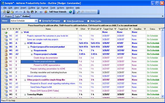Achieve Planner Productivity Suite Screenshot