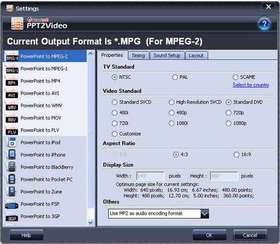 Acoolsoft PPT2Video Converter, Development Tools Software Screenshot