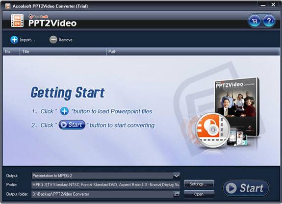 Acoolsoft PPT2Video Converter Screenshot