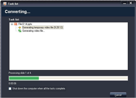 Acoolsoft PPT2Video Converter, Development Software Screenshot