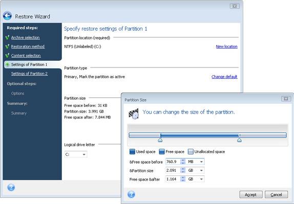 Security Software, Acronis True Image Home 2009 Screenshot