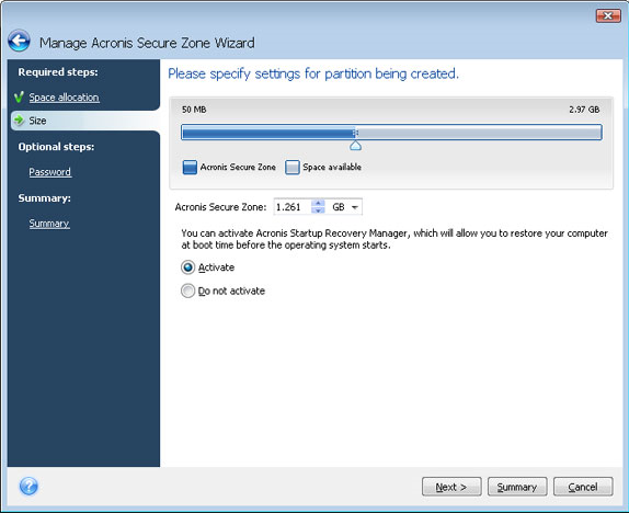 Acronis True Image Home 2009, Security Software, Backup Disk Image Software Screenshot