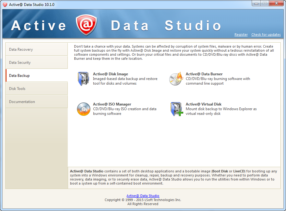 Active@ Data Studio, Other Utilities Software Screenshot