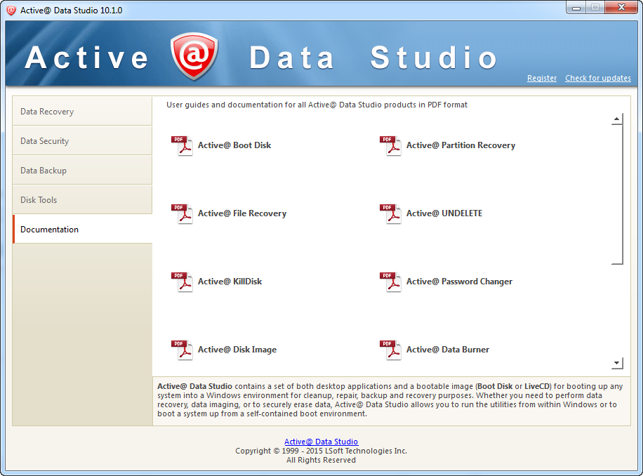 Other Utilities Software, Active@ Data Studio Screenshot