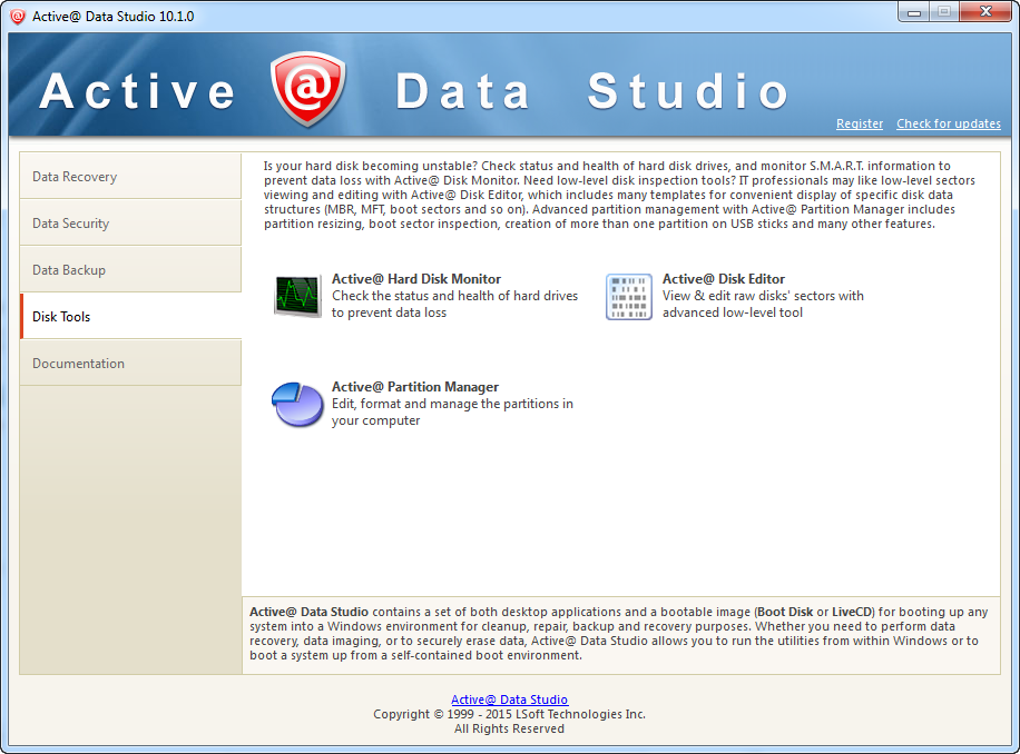 Active@ Data Studio, Software Utilities Screenshot