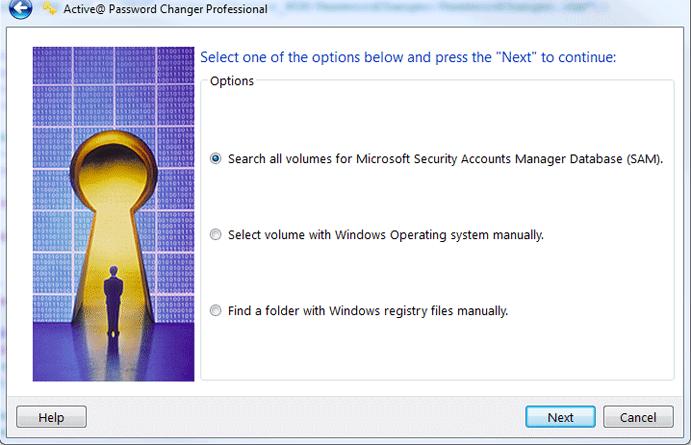 Active@ Password Changer, Password Manager Software Screenshot