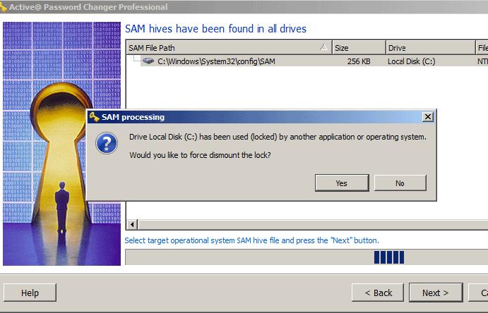 Active@ Password Changer, Security Software Screenshot