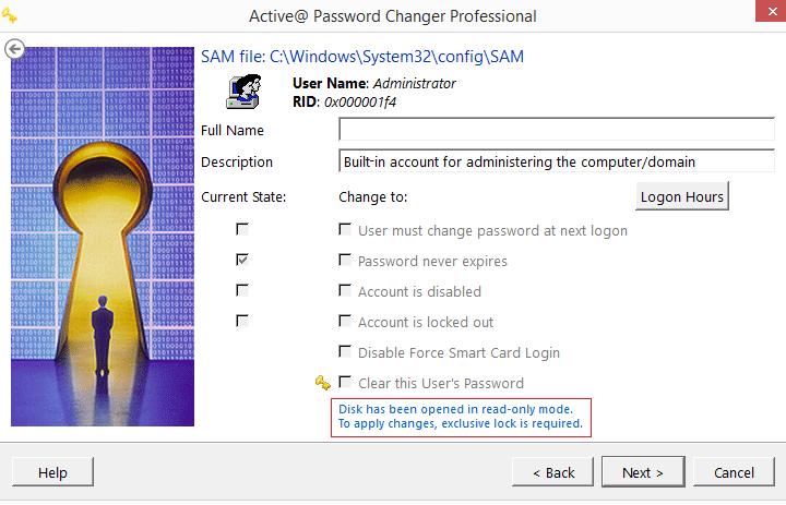Active@ Password Changer Screenshot