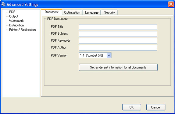 ActMask ALL2PDF, Business & Finance Software Screenshot