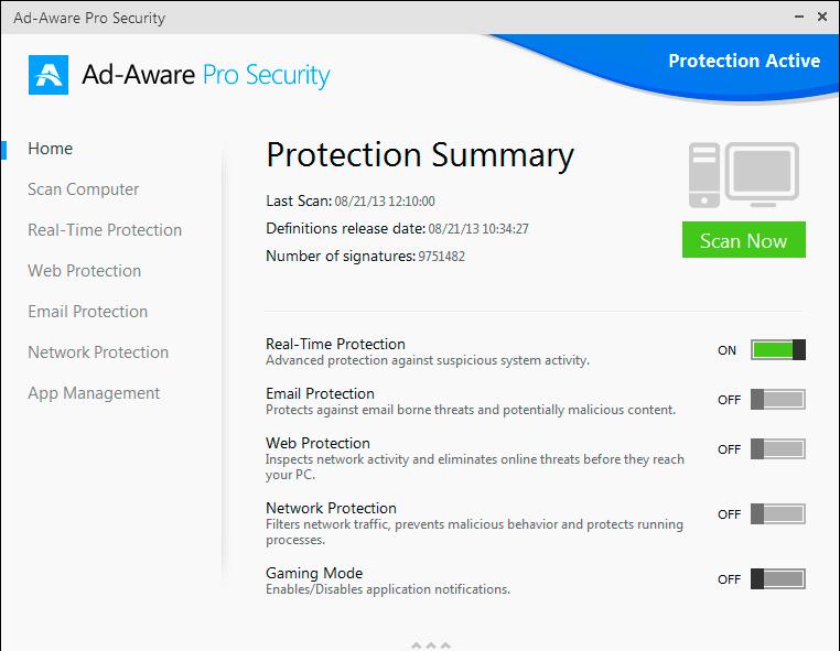Ad-Aware Pro Security Screenshot
