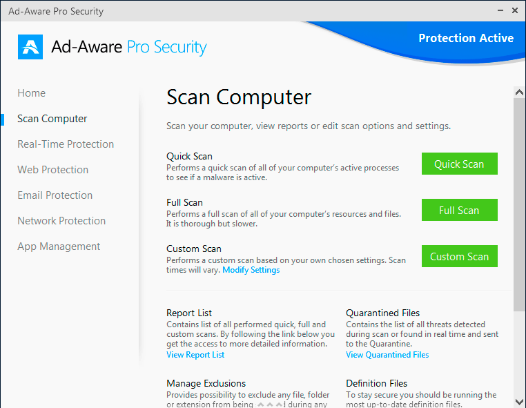 Ad-Aware Pro Security, Security Software Screenshot