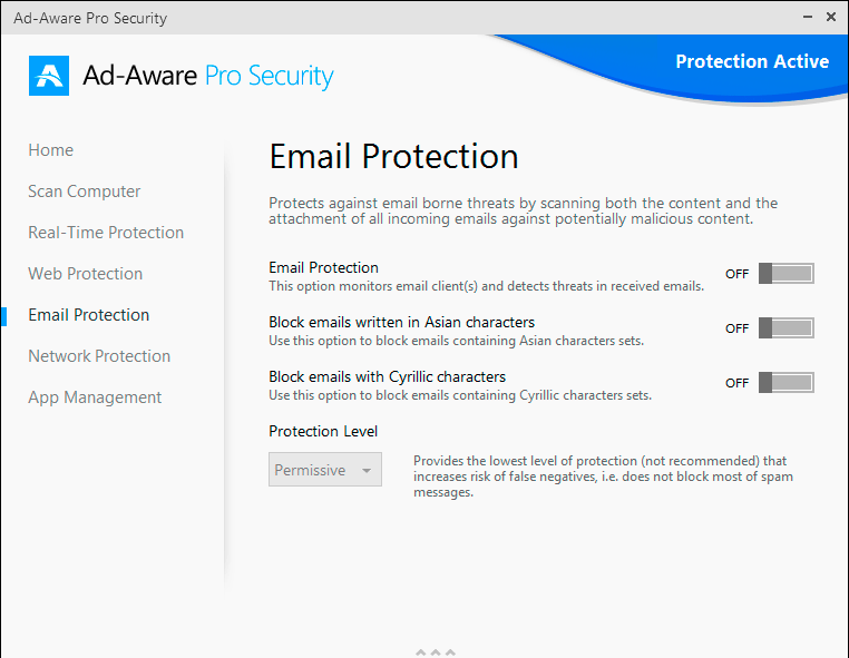 Ad-Aware Pro Security, Access Restriction Software Screenshot