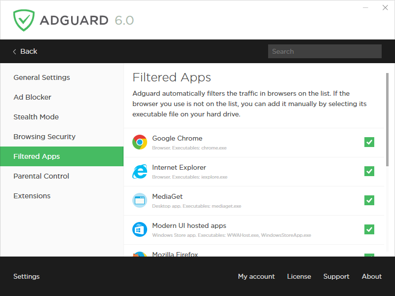 AdGuard, Internet Security Software Screenshot