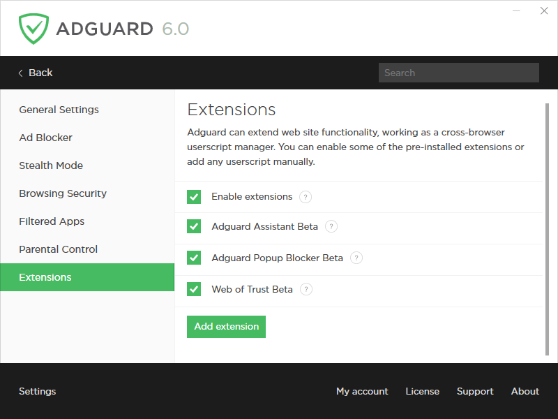 Adguard Premium Protection, Security Software, Network Security Software Screenshot