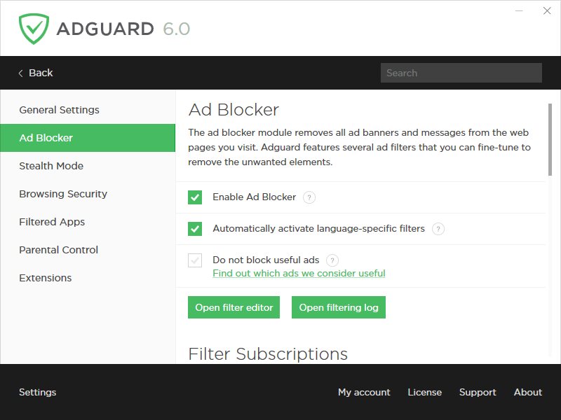 Adguard Premium Protection, Network Security Software Screenshot