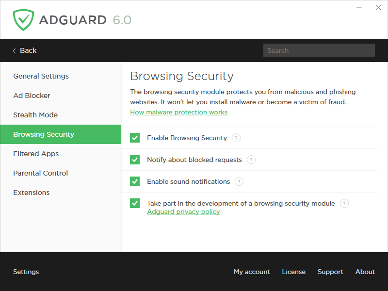 Network Security Software, Adguard Premium Protection Screenshot