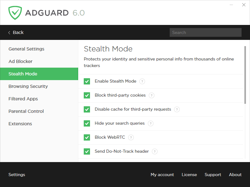 Adguard Premium Protection, Security Software Screenshot