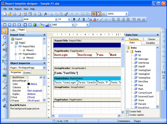 Educational Software, Adit Testdesk Screenshot