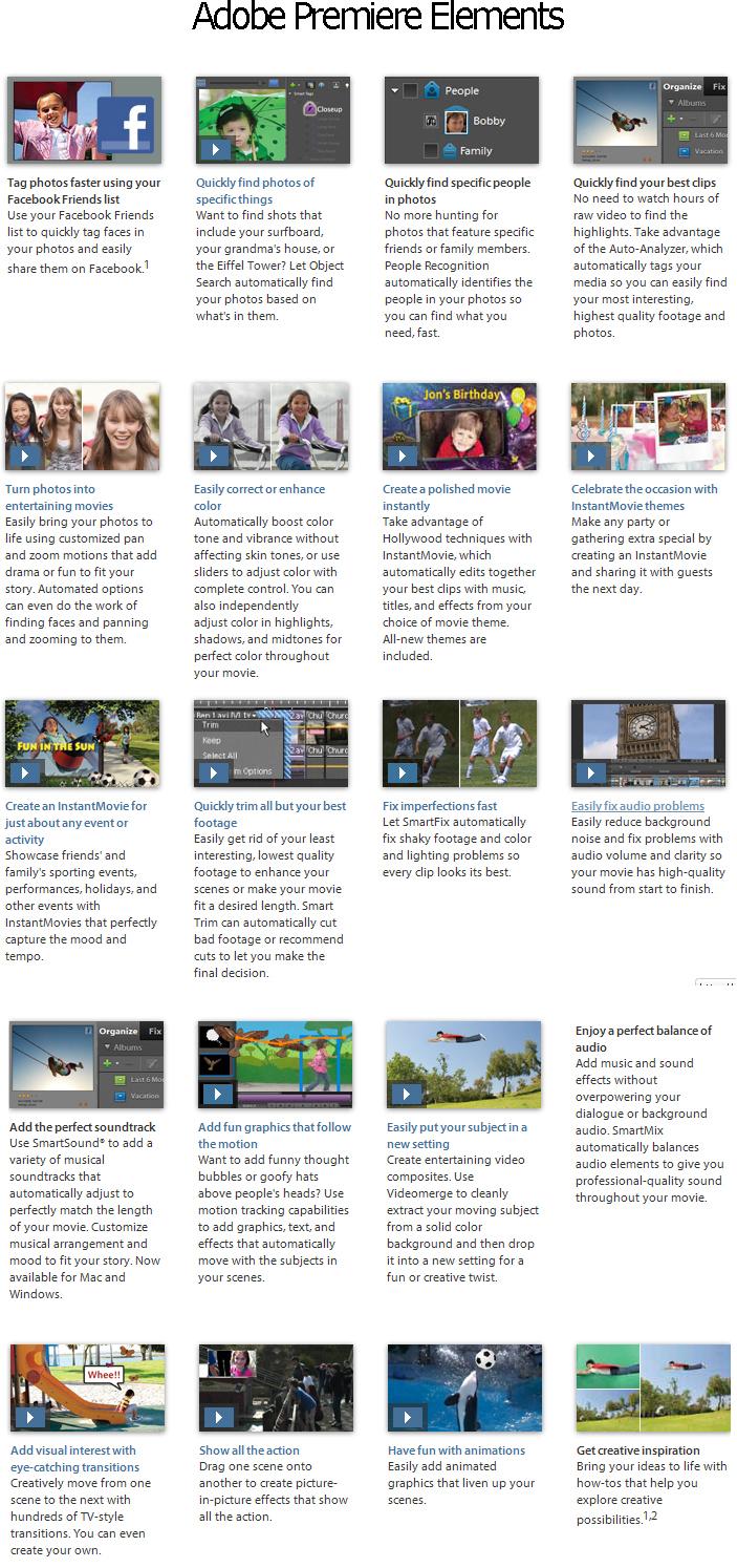 Adobe Premiere Elements 10 Screenshot