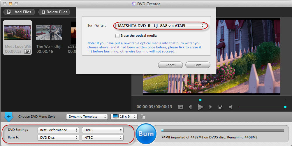DVD Ripper Software, Adoreshare DVD Creator for Mac Screenshot