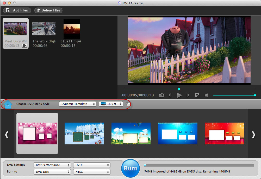 Adoreshare DVD Creator for Mac, Video Software Screenshot