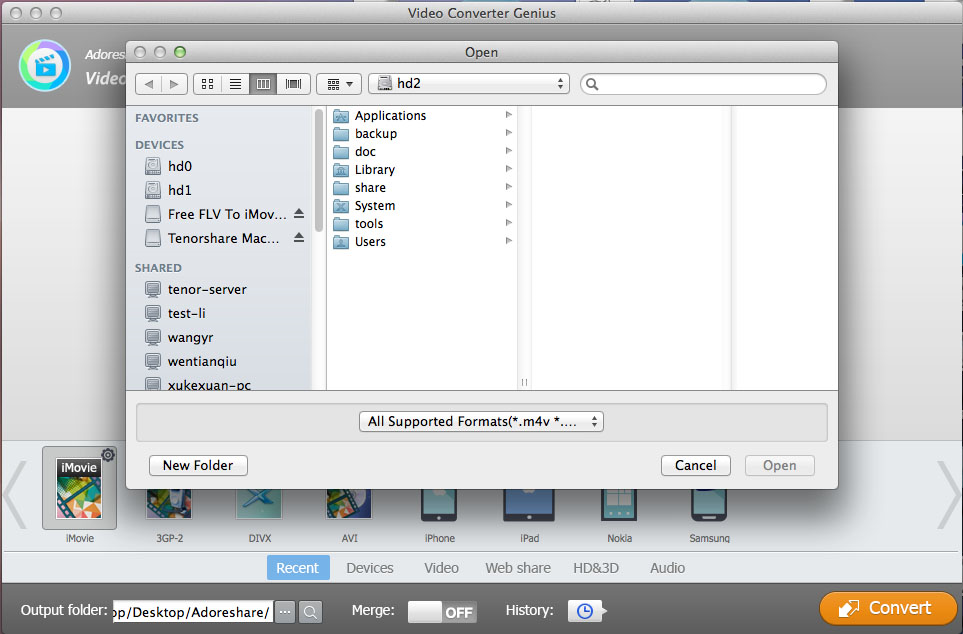 Adoreshare Video Converter Genius Screenshot