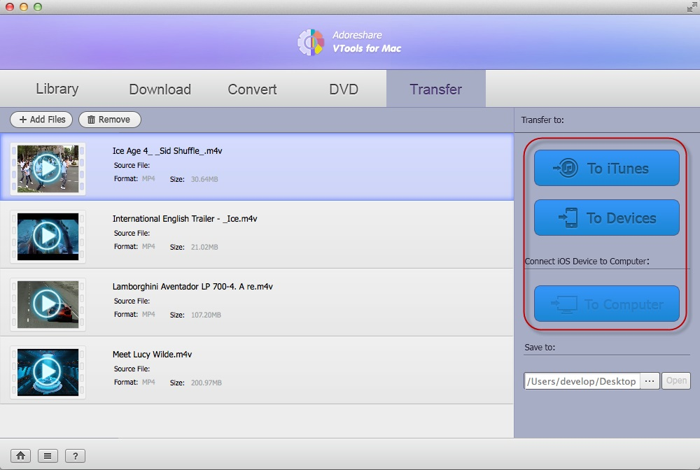 Video Converter Software, Adoreshare VTools for Mac Screenshot