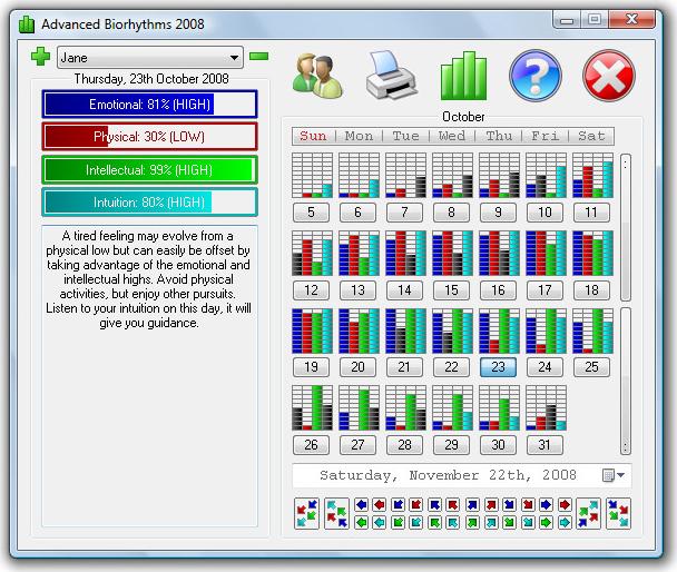 Advanced Biorhythms Screenshot