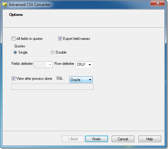 Business & Finance Software, Advanced CSV Converter Screenshot