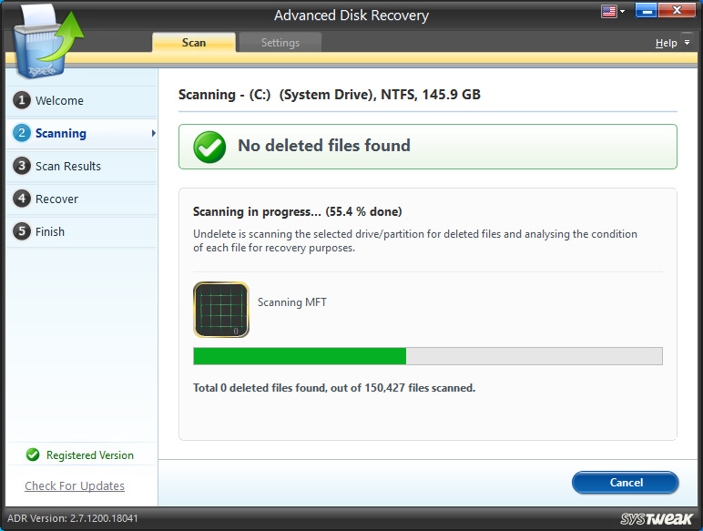 Advanced Disk Recovery, Recovery Software Screenshot
