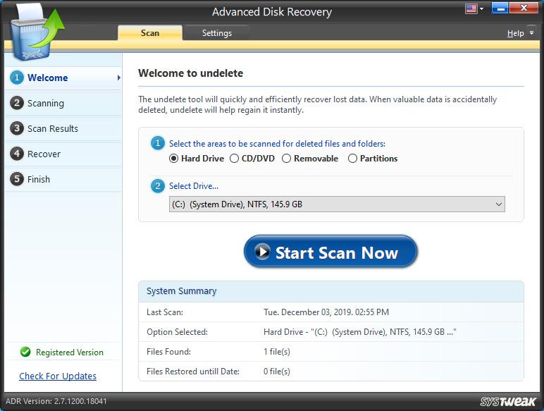 Advanced Disk Recovery Screenshot