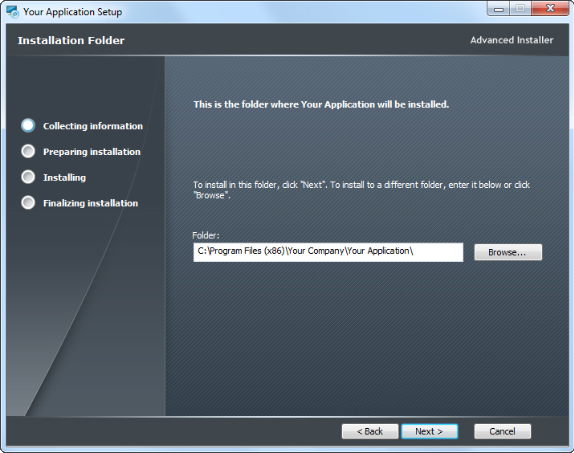 Development Tools Software, Advanced Installer Professional Screenshot
