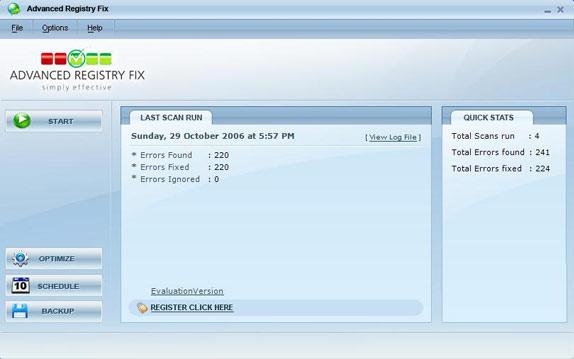 Advanced Registry Fix Screenshot