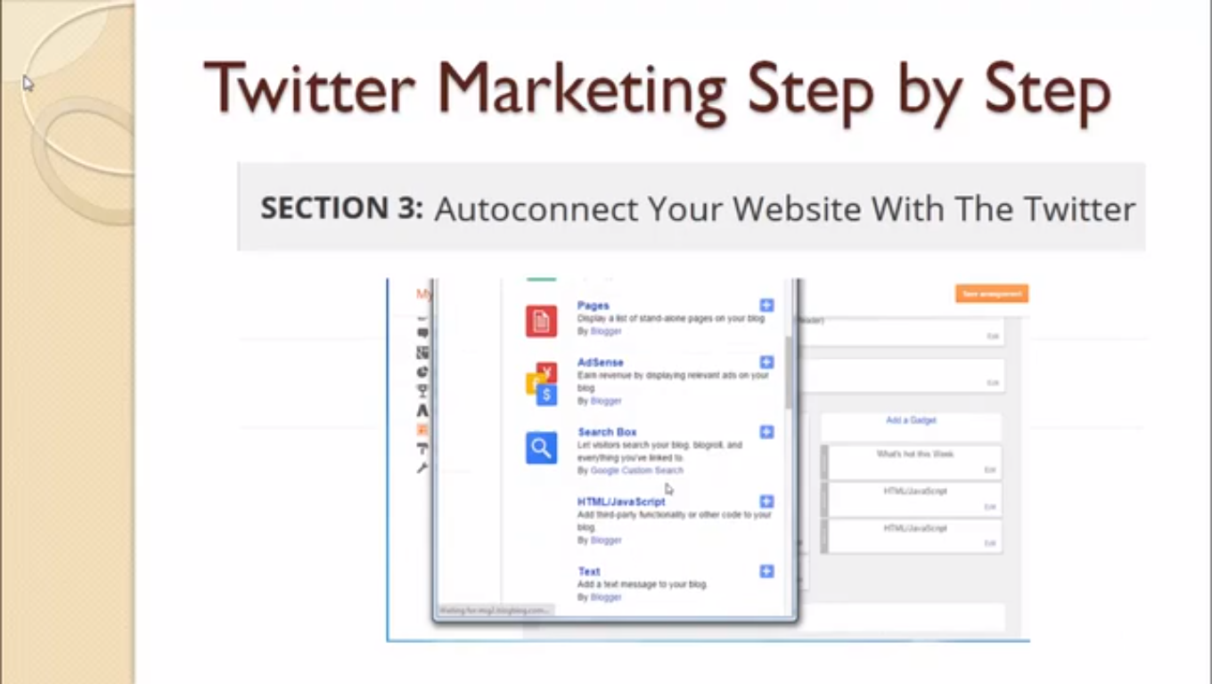Advanced Twitter Marketing Techniques: Twitter For Small biz, Educational Software Screenshot