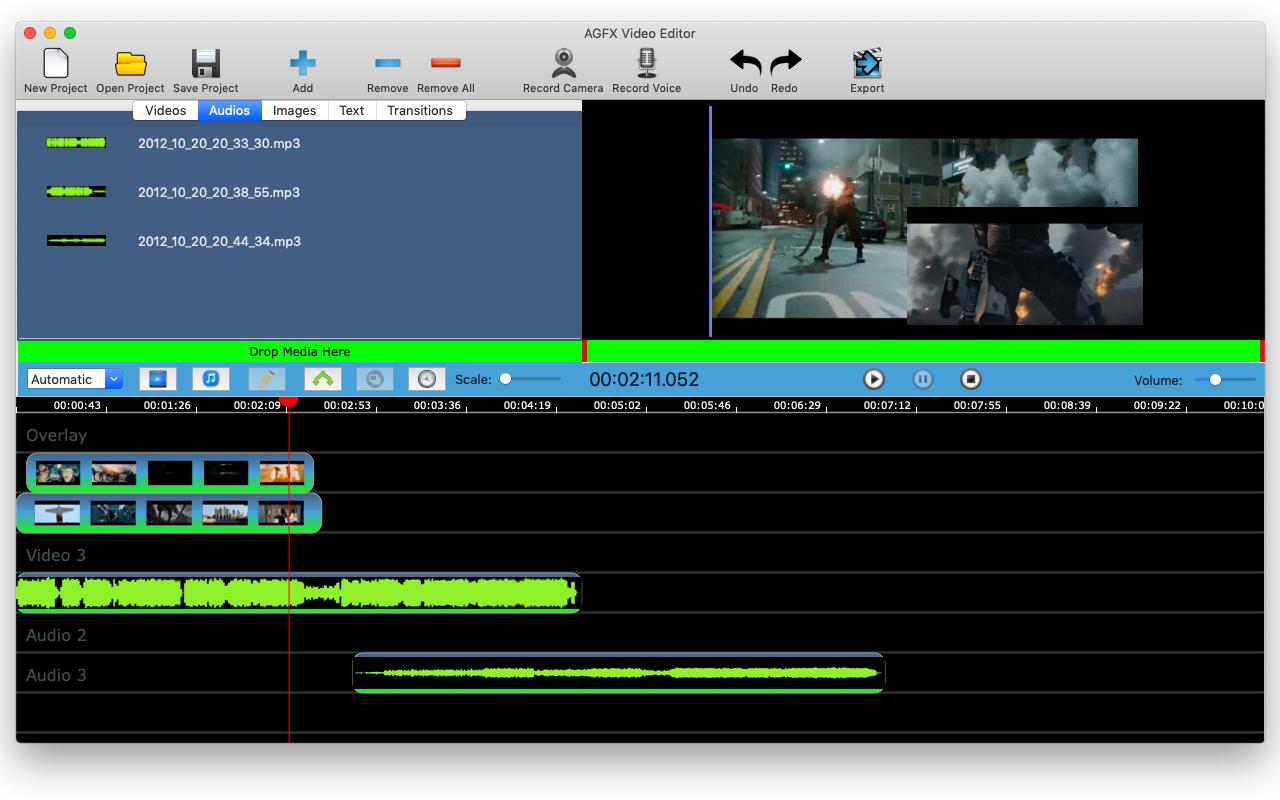 AGFX Video Editor, Video Editing Software Screenshot