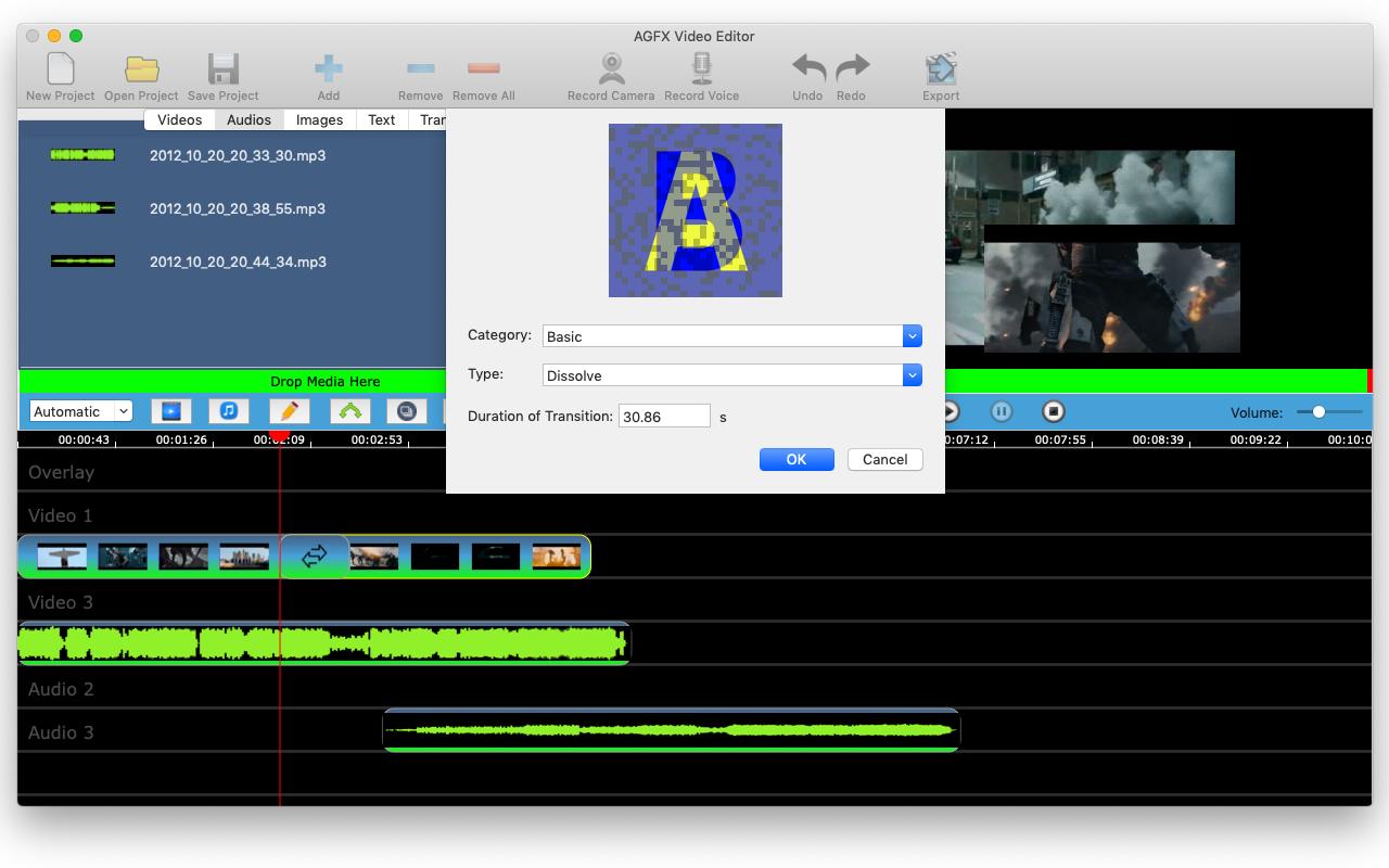 AGFX Video Editor, Video Software Screenshot
