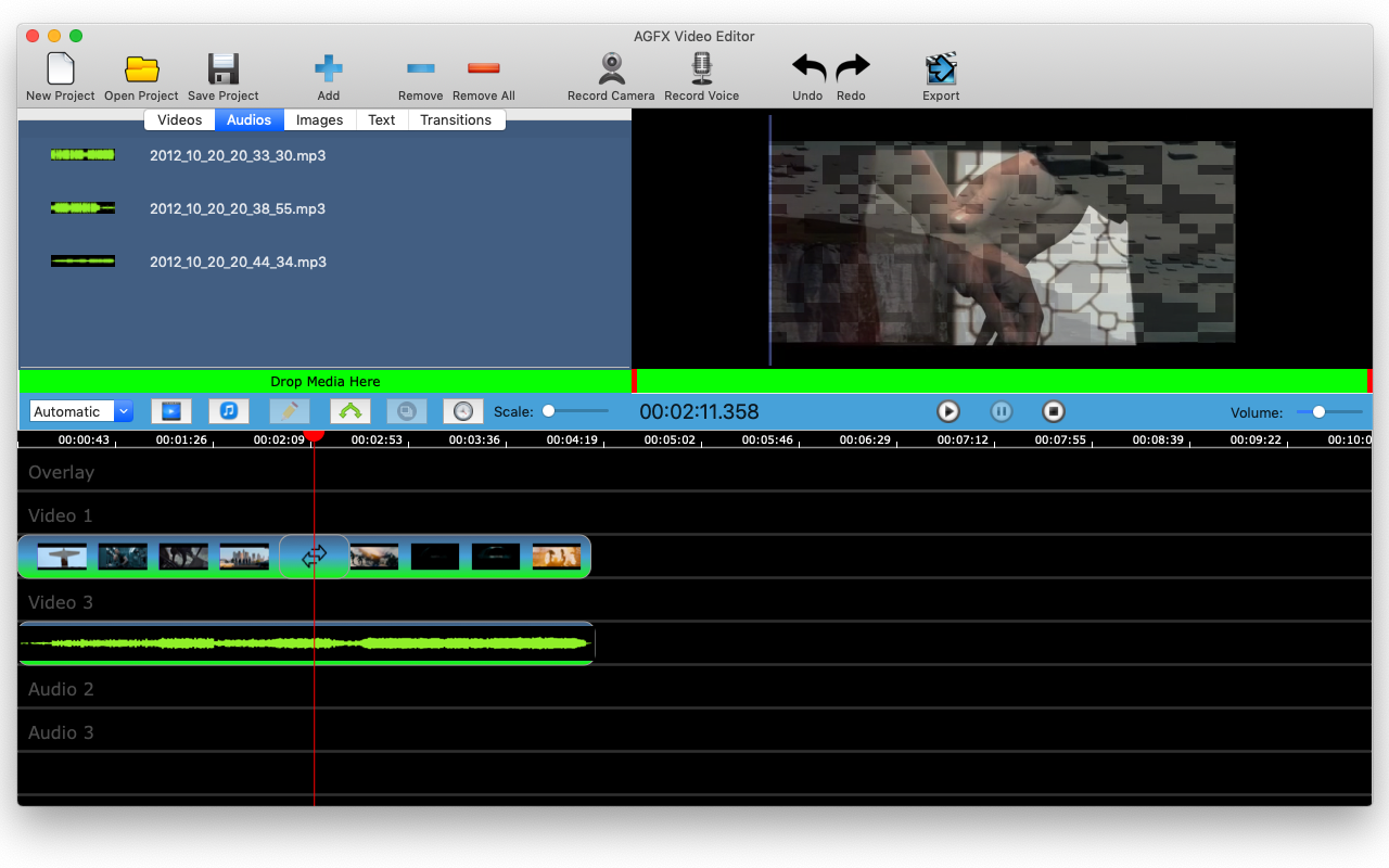 Video Editing Software, AGFX Video Editor Screenshot