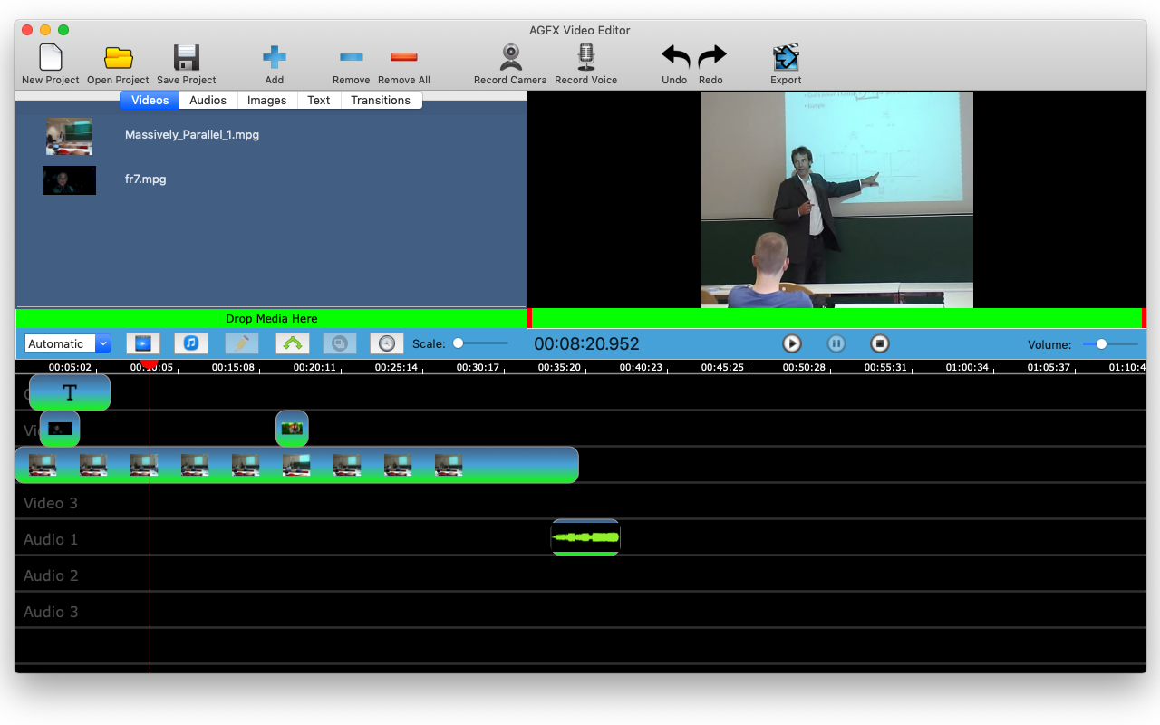 AGFX Video Editor Screenshot