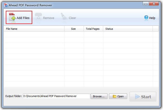 Ahead PDF Password Remover Screenshot