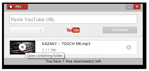 YouTube Downloader Software, Airy YouTube Downloader Screenshot