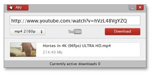 Airy YouTube Downloader Screenshot
